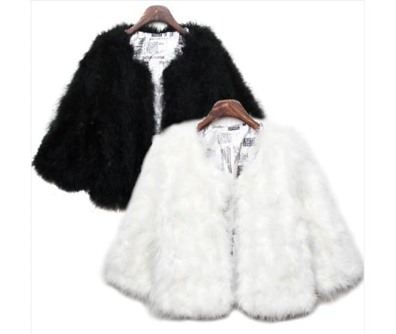 Faux Fur White Jacket for Glam Punk Style
