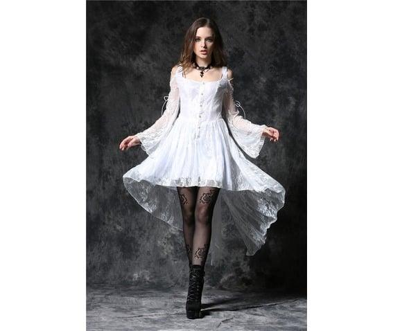 White Gothic Dovetail Dress