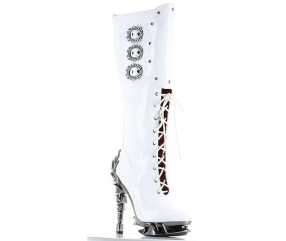 White platform boots