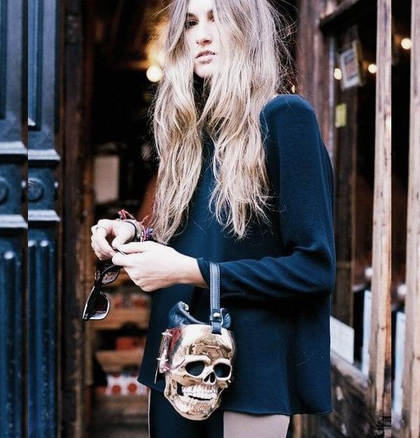 Chic skull bag for Halloween