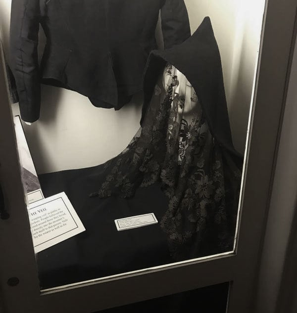 Mourning hood and veil combo at Merchants House NY
