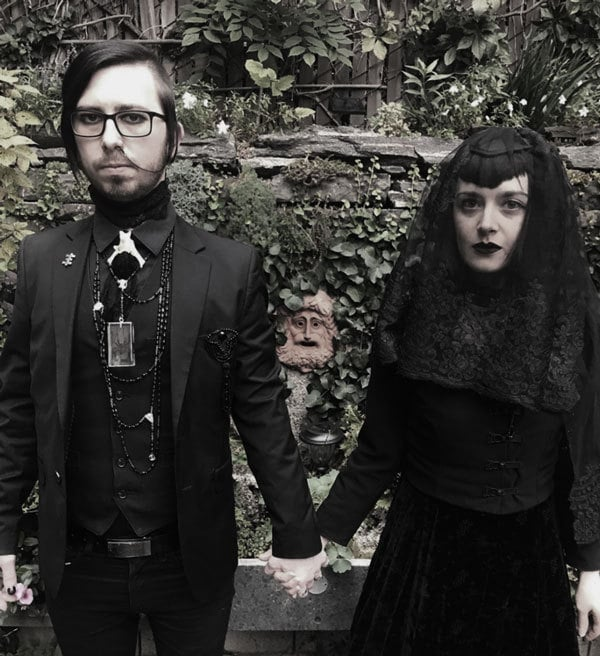 Is this a funeral or a beautiful goth wedding?