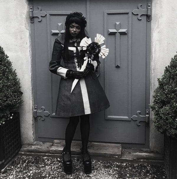 Gorgeous modern gothic victorian mourning attire