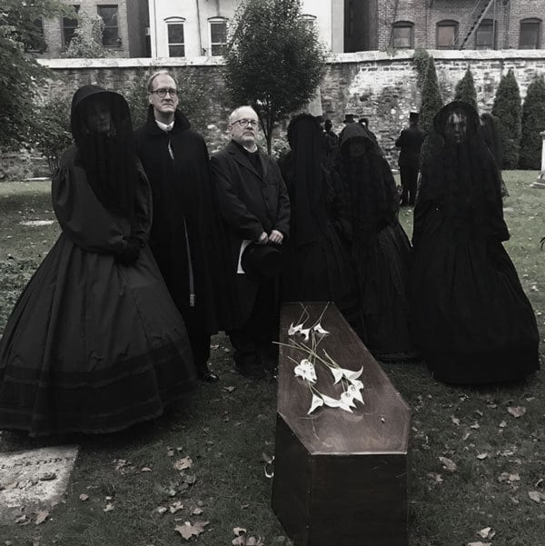 Authentic Victorian Mourning attire at 1865 Funeral Reenactment, New York