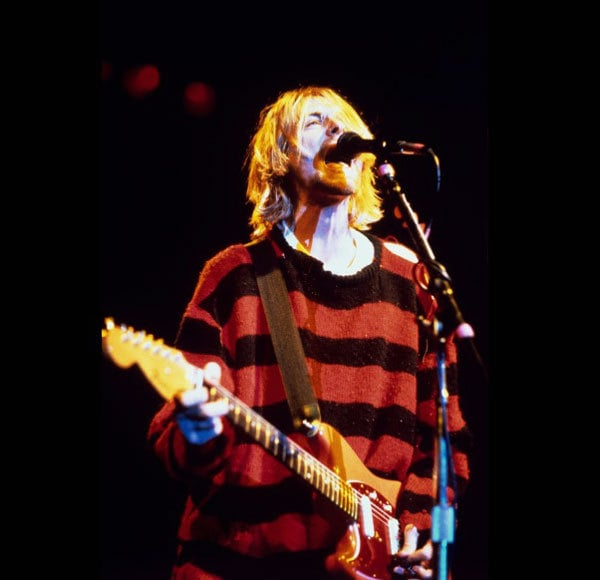 kurt cobain striped jumper