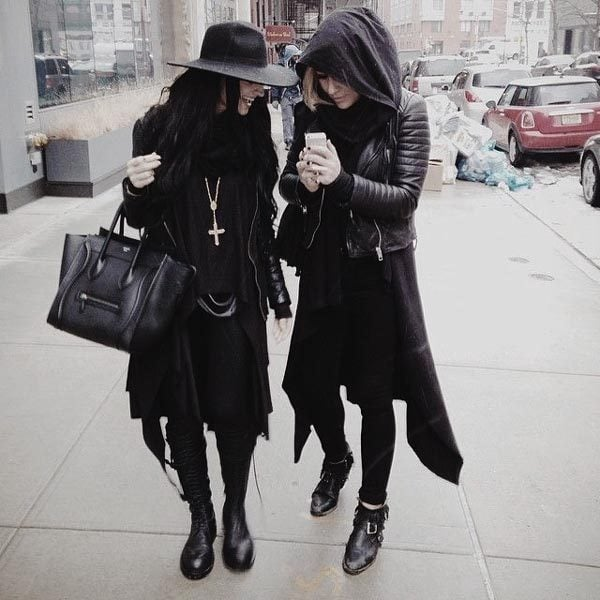 Edgy winter outfits