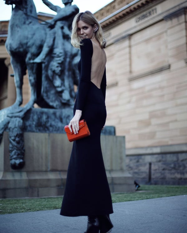 Gothic Evening Dresses That Flatter a Smaller Bust: Backless Dresses