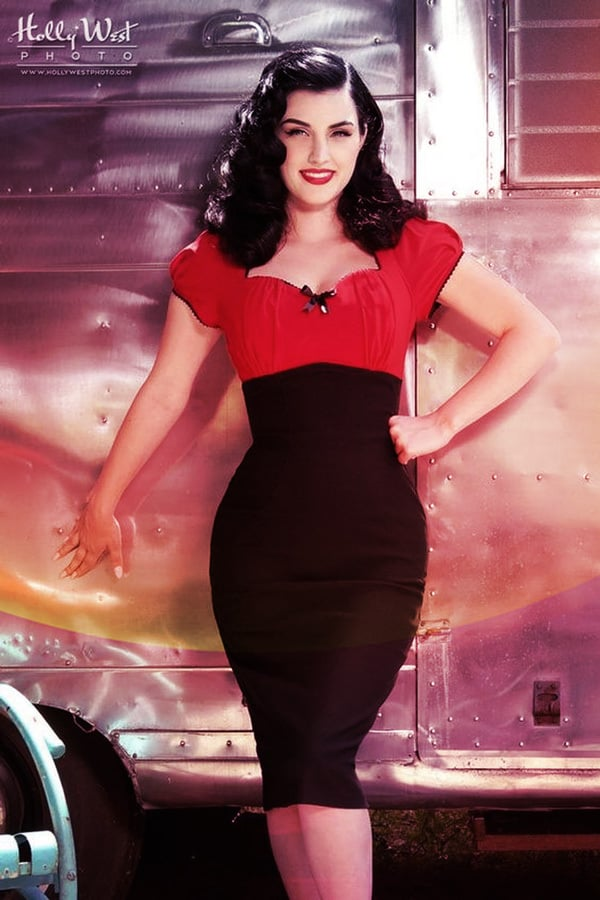 What To Wear to Your First Burlesque Show: Pinup Style Dress