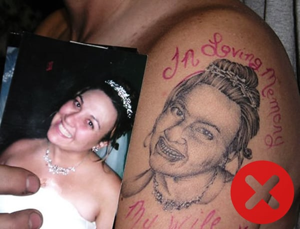 Tattoos to avoid: Portrait Tattoos