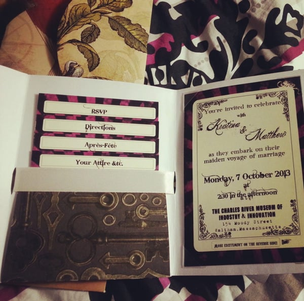 Awesome Favors For Your Steampunk Themed Wedding: Steampunk Invitations