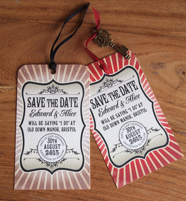 Awesome Favors For Your Steampunk Themed Wedding: Save The Date