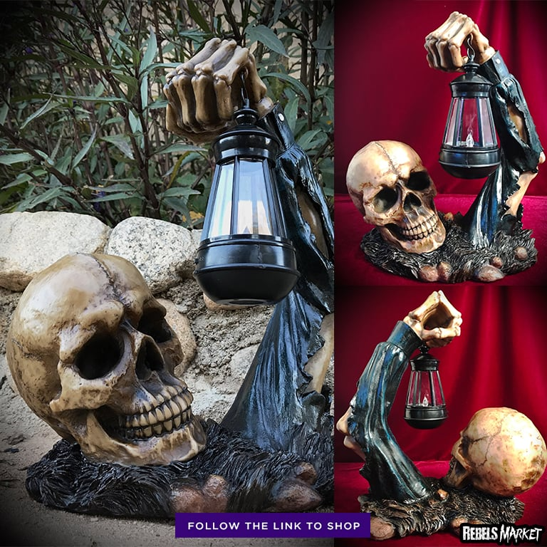 Outdoor skull lamp RebelsMarket