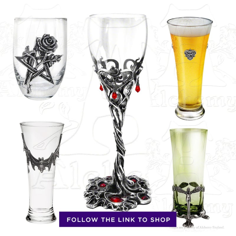 RebelsMarket Gothic glassware for Halloween
