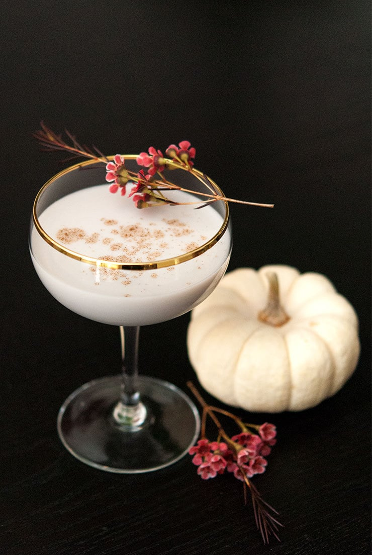 Tasty Alternative Thanksgiving Cocktails: White Pumpkin Cocktail