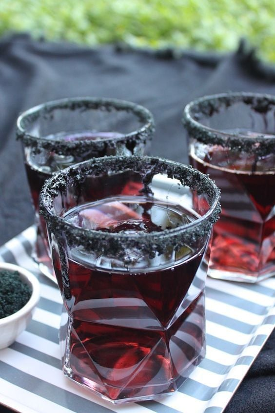 gothic new year party drinks