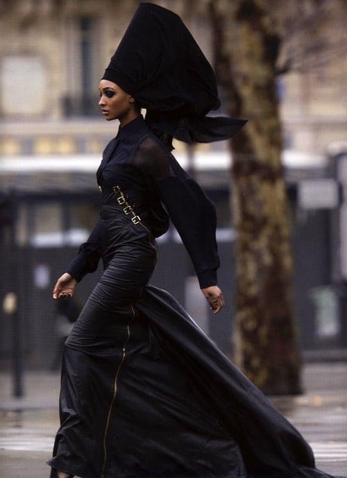 Afro goth headdress