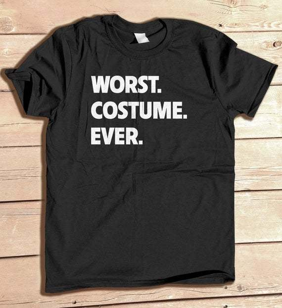 ironic halloween costume tshirt