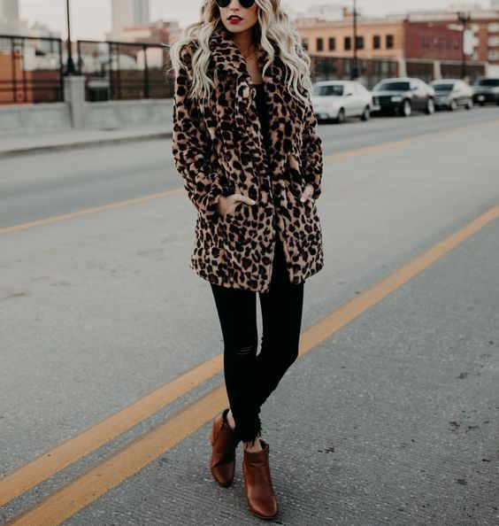 A statement coat for an edgy glam grunge style