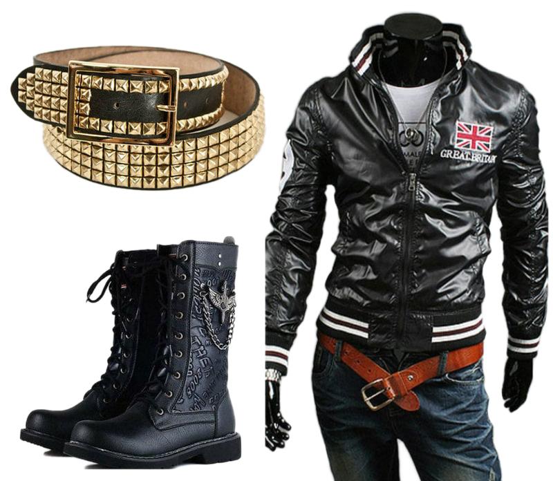 Glam punk men fashion
