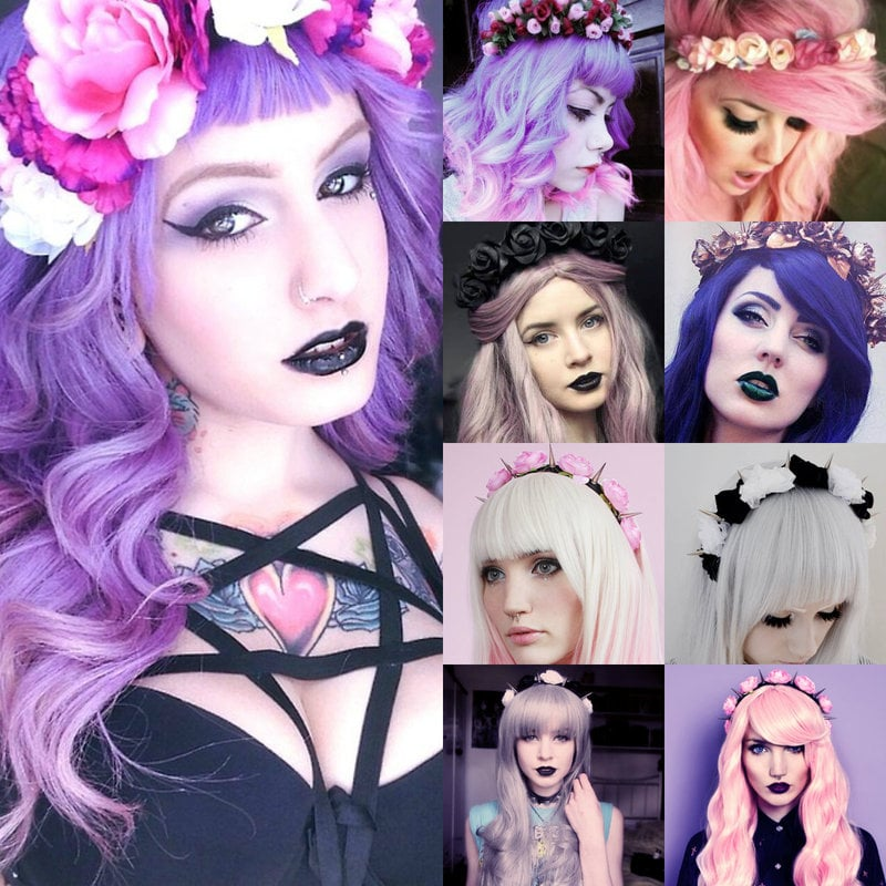 Pastel goth hair and accessories