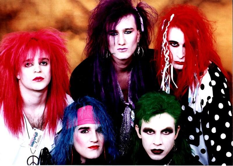 Glam punk band