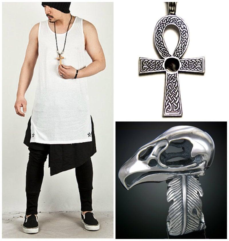 Glam punk men accessories