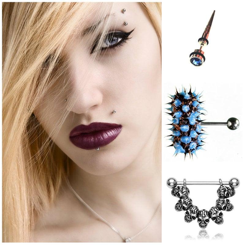 Glam punk piercing
