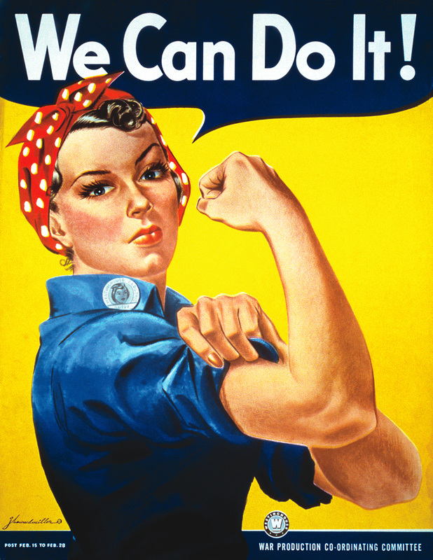 All about 40s Fashion: rosie the riveter