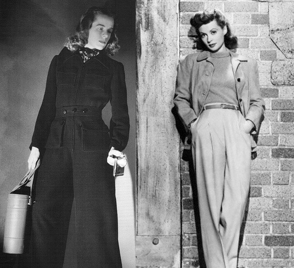 All about 40s Fashion: retro pants styles