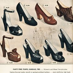 All about 40s Fashion: womens shoes