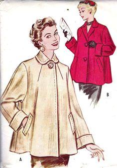 womens 1950s fashion illustration