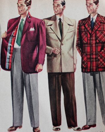 mens suits 50s illustration