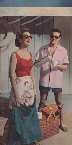 1950s vintage style photograph men and womens fashion