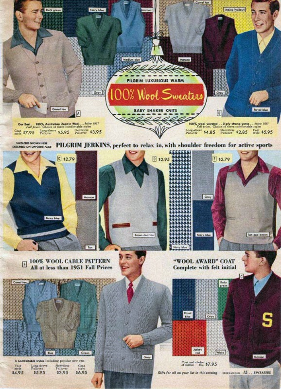 1950s preppy mens fashion