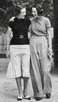 women's pants 1930s