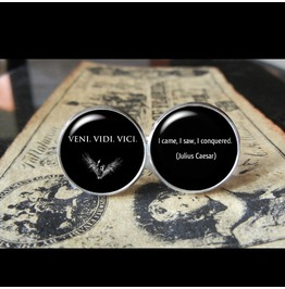 Veni Vidi Veci Cuff Links Men,Wedding,Groomsmen,Groom