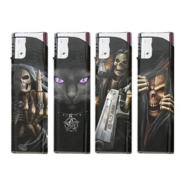 Set Four Rechargeable Printed Lighters