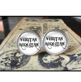 Veritas Aequitas #2 Cuff Links Men,Wedding,Groomsmen