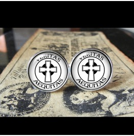 Veritas Aequitas #3 Cuff Links Men,Wedding,Groomsmen