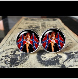 Confederate Flag Gal Cuff Links Men,Wedding,Groomsmen