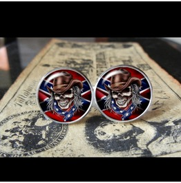 Confederate Skull Cuff Links Men,Wedding,Groomsmen