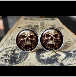 Evil Skull Cuff Links Men,Wedding,Groomsmen,Grooms,Gift