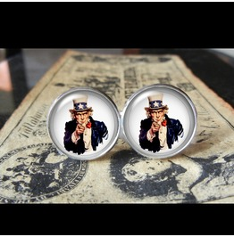 Uncle Sam Poster Cuff Links Men,Wedding,Groomsmen,Groom