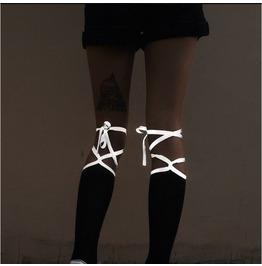 Harajuku Diablo Reflective Tie Socks