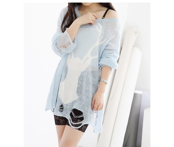 light_blue_deer_print_fashion_women_sweater_cardigans_and_sweaters_3.jpg