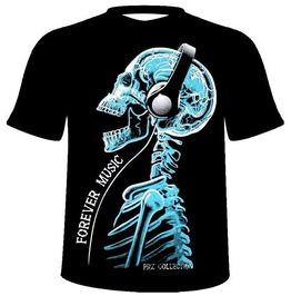 Forever Music, Skull, Skeleton, Head,T Shirt,Tee,Tshirt