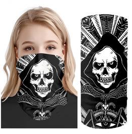Scary Scull Bandana Face Mask, Neck Gaiter, Face Mask, Reusable Bandana