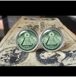 Annuit Coeptis/Illuminati Cuff Links Men,Wedding,Grooms