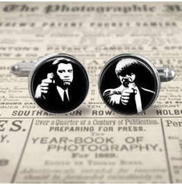 Pulp Fiction Jules/Vincent #1 Cuff Links Men,Wedding