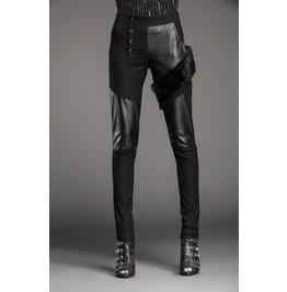 Stylish Patchwork Faux Fur Slim Denim Pants